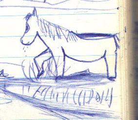 pony line drawing