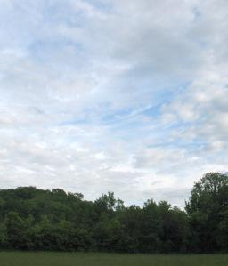 Blue sky over the Highlands.