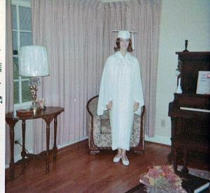 Aunt Joyce---ready to graduate from high school.