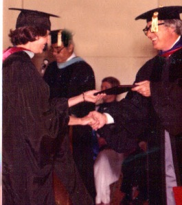 Mom receives her master's in early childhood education in the 80's.  Go Mom!