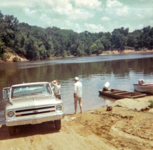 Boat launching takes skill.
