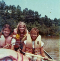A canoe ride with two sweet camp friends.
