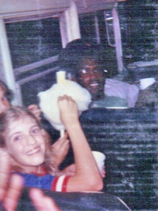 The girl next to me and I loaded up on cotton candy at the Hamilton skating rink.  Later that night, I was soooooo sick!