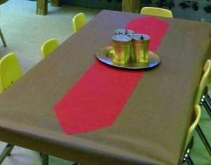 Table and chairs for young, squirming little bodies.