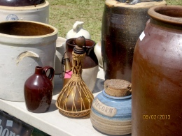 Pottery and butter churns.