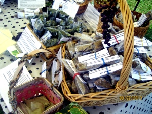 The nicest lady, named Twila, was selling these herbs.