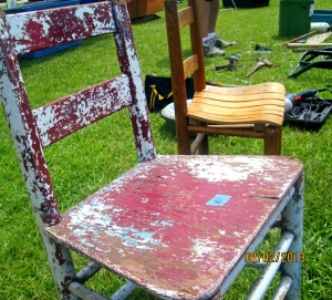 Love this old chair.