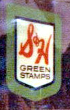 The little Green Stamps sign on our store.