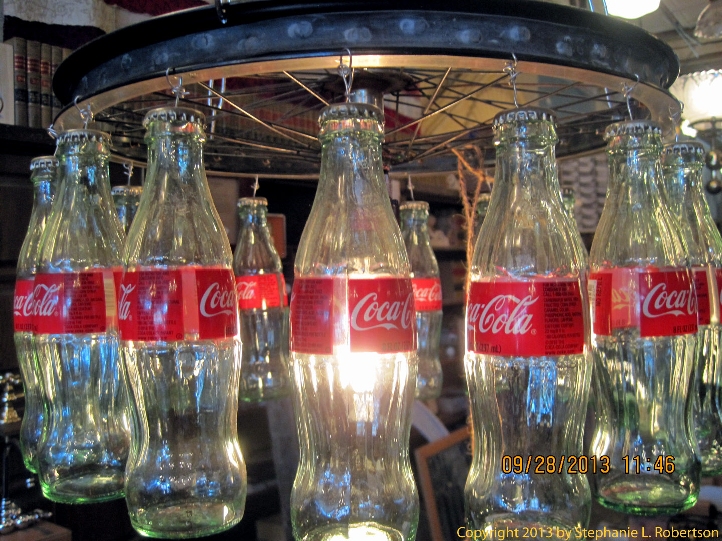 More southern accents sweet gum life a chandelier made from coke bottles aloadofball Images