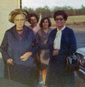 Grandmother Findley, on far right.