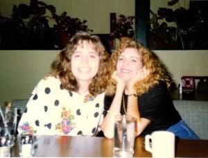 Melanie and Stephanie in College.