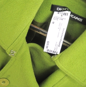 Cute DNKY Jeans jacket.  I'm loving the color.  Team it with a punchy orange scarf.