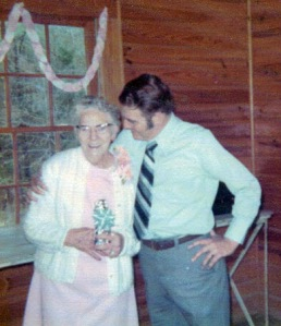 Great-Grandmother and Uncle Buddy.  I remember this surprise party for Grandmother B, and I was about four years old!