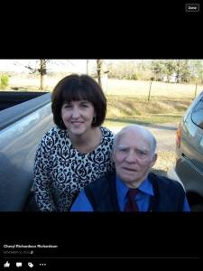 Cousin Cheryl and Uncle Buddy.
