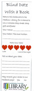 My blind date bookmark.