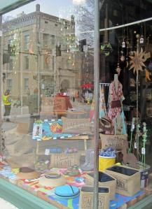 Harrison Brothers' display window.