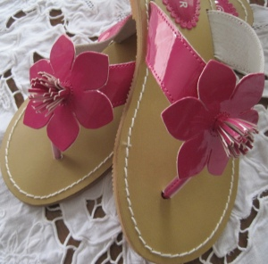 Princess Buttercup's Easter shoes.