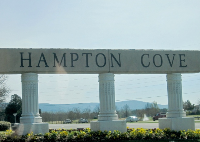 Hampton Cove subdivision in east Huntsville.