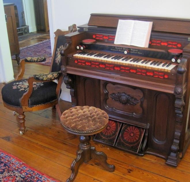 Organ in parlor.
