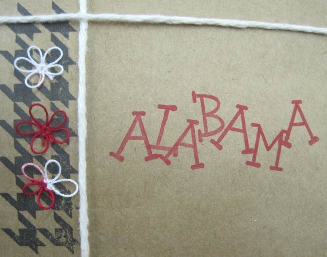 University of  Alabama stationery.  I think my friend Wendy may have done these.