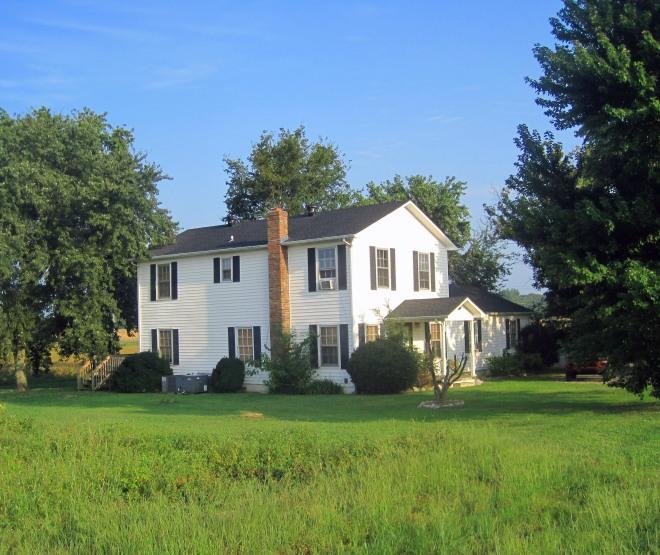 Old farmhouse near the fields.