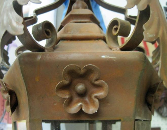 Rusty lantern.