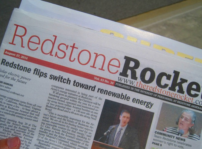 We're also home to the Redstone Arsenal.