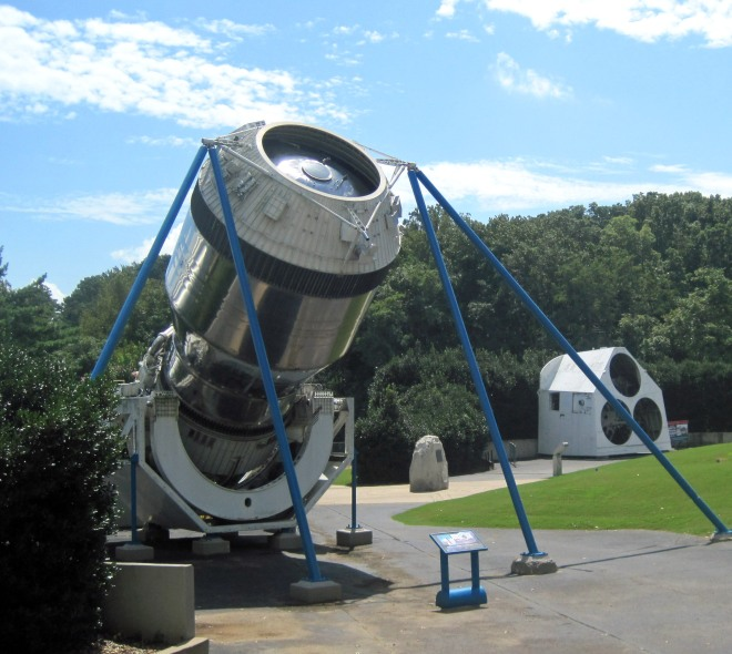 This little guy is our claim to fame--a rocket engine.