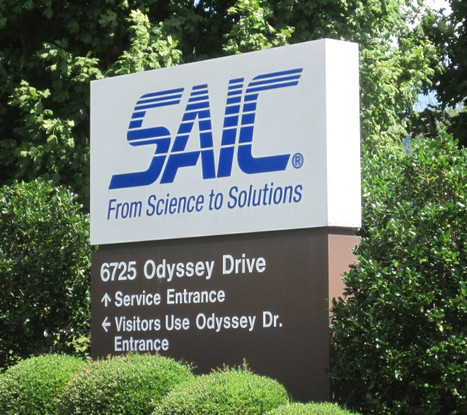 We've got your back, America.  SAIC is one of the defense contractors in town.