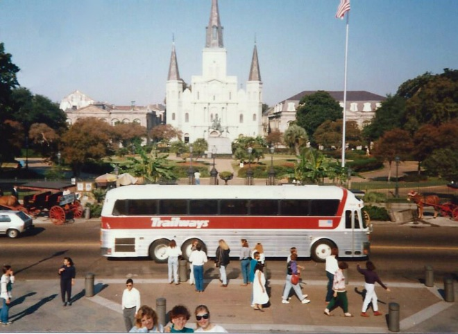A couple of friends and me at Jackson Square.