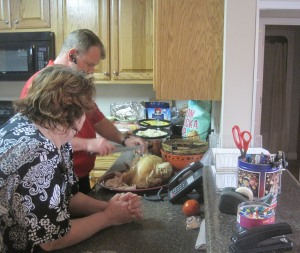 Mr. Joey and Miss Cindy serve up some yummies.