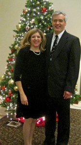 Lefty and me at his company Christmas party this year.