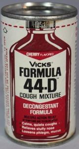 Vintage Vicks Formula 44-D bottle.