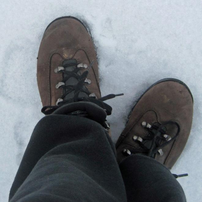 Crunchy snow.