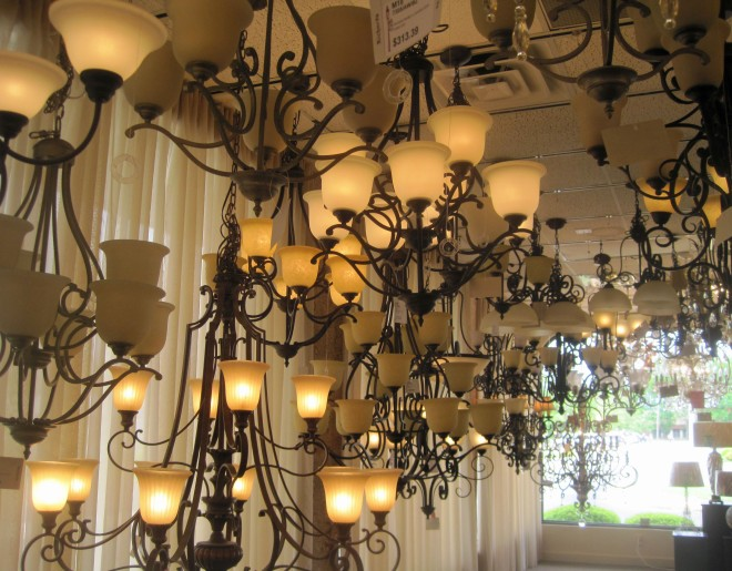 Chandeliers galore!