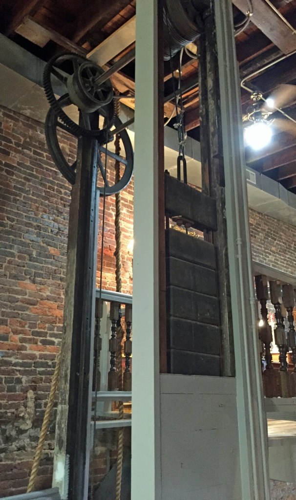 The old elevator in Magnolia Antique Gallery.